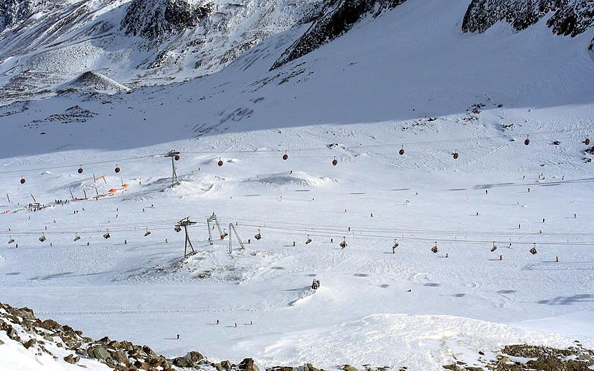 Stubai glacier in the Austrian Tyrol