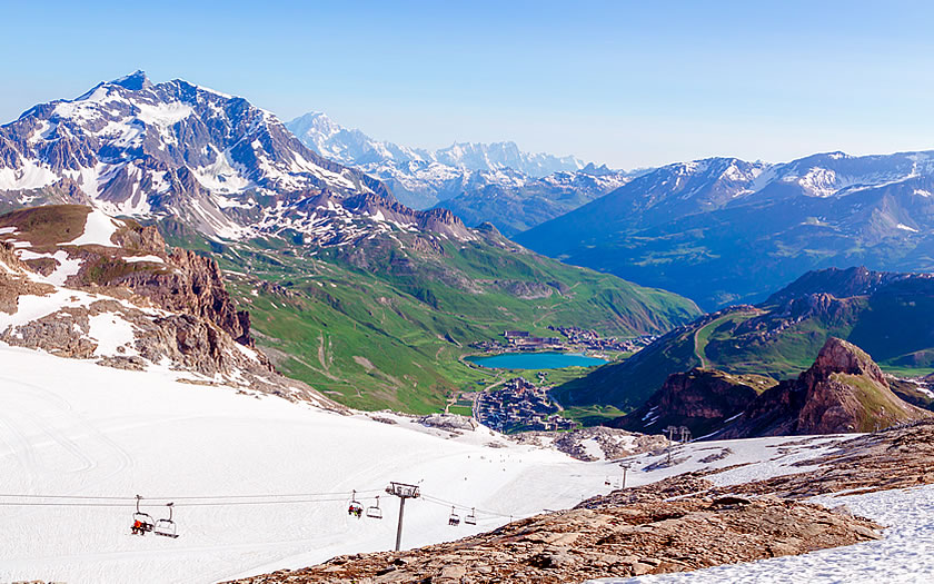 Summer skiing in Tignes