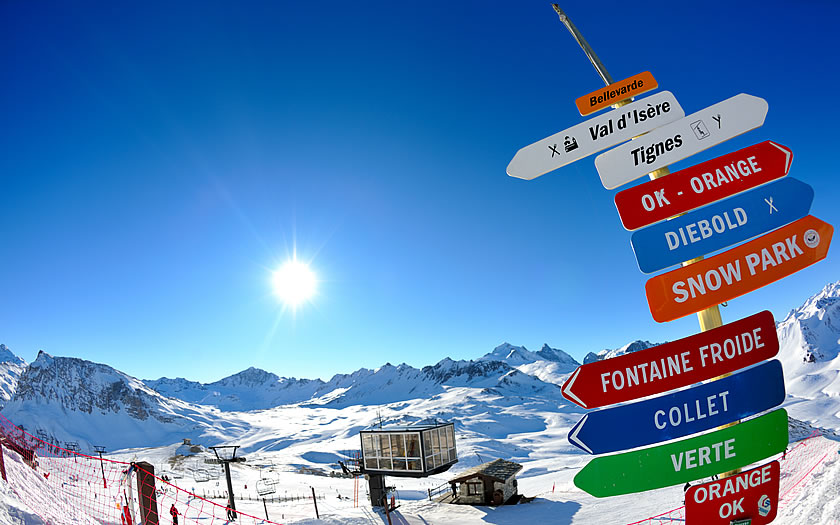 Val d'Isere and Tignes make up the Espace Killy ski area in France