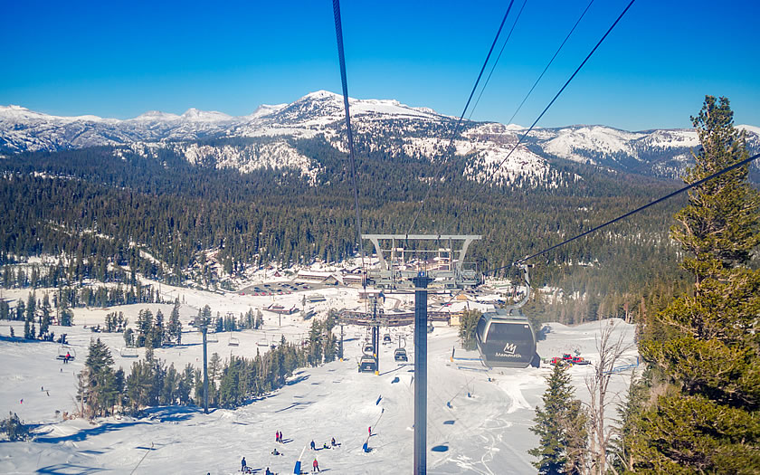 Skiing at Mammoth Mountain