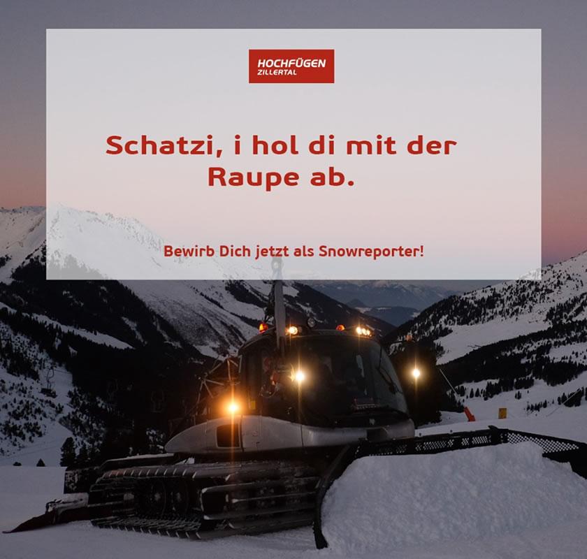 The genuine job ad from Hochfügen in Austria