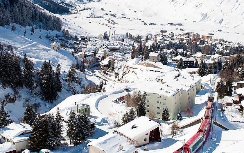 Andermatt ski resort, Switzerland