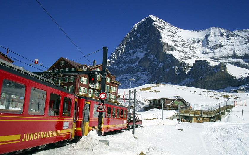 The Kleine Scheidegg railway station