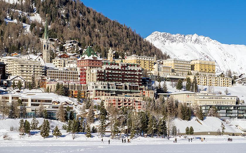 St Moritz in eastern Switzerland