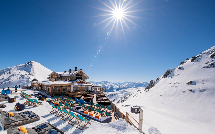The Wedelhütte in the Hochzillertal ski area in the Austrian Tyrol