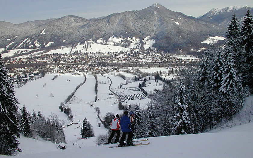 View of Lenggries from the ski slopes