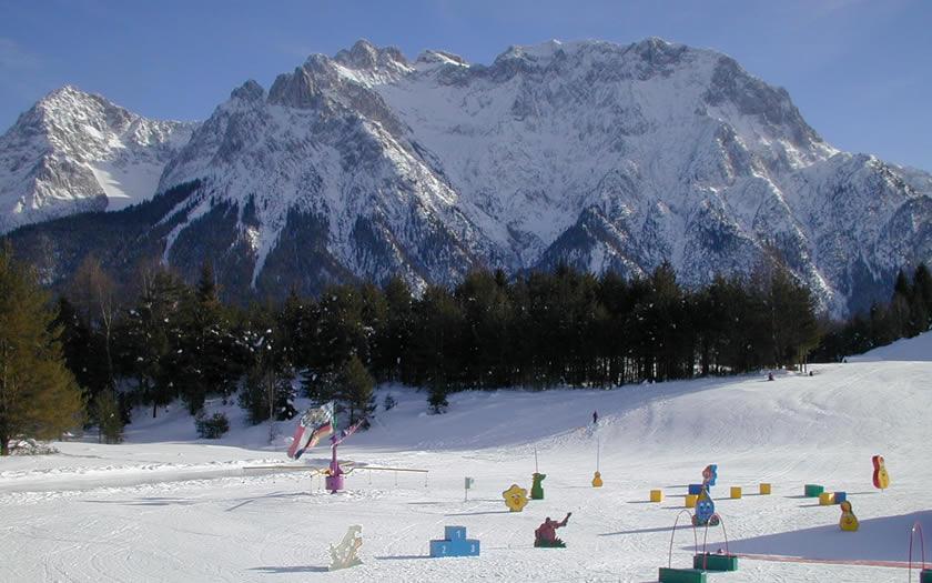 Mittenwald ski area in Germany