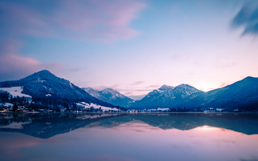 View of the Schliersee in winter