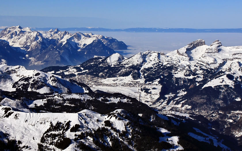 Leysin ski resort in Switzerland