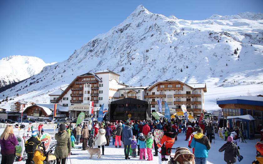 Galtür ski resort in Austria