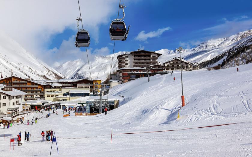 Obergurgl ski resort in Austria
