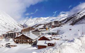 Obergurgl ski resort in the Austrian Tyrol