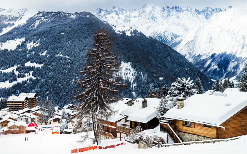 The ski village of Verbier in Switzerland