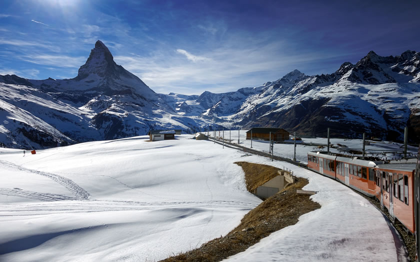 The Gornergrat train at Zermatt