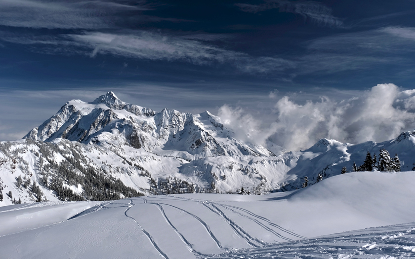 Mt. Baker skiing in northern Washington state