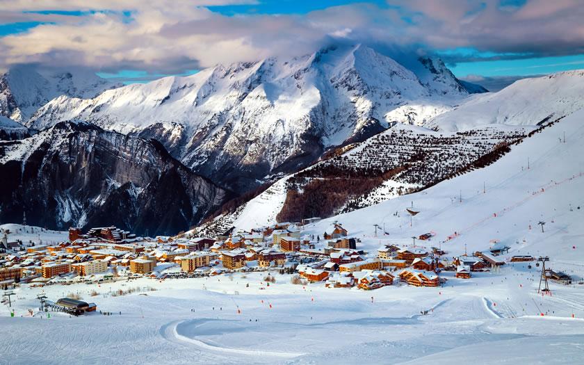 Alpe d'Huez ski resort in France
