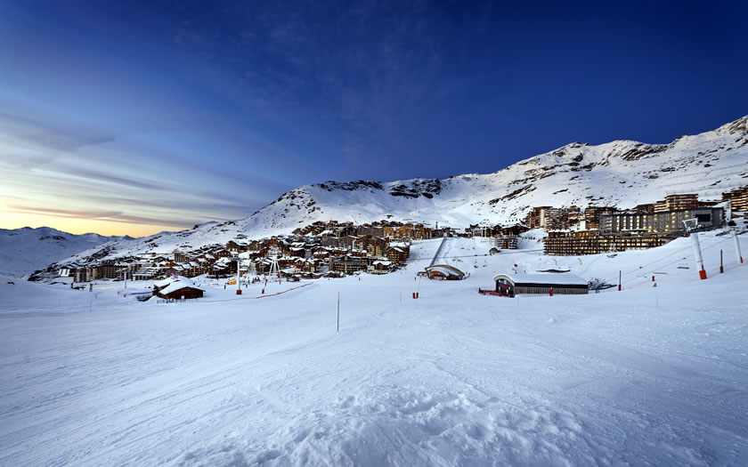 Val Thorens in the evening light