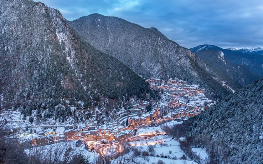View of Arinsal ski resort in Andorra