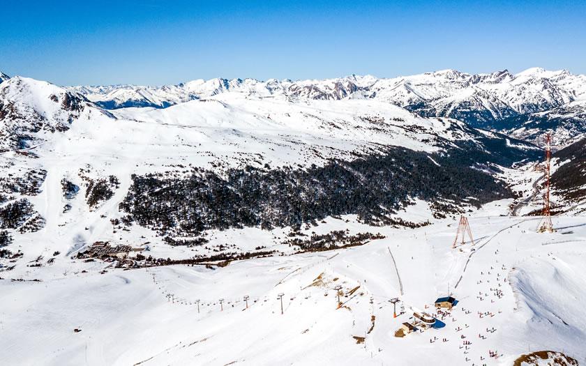 The Grandvalira ski area in Andorra
